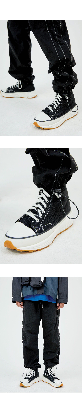 platform canvas shoes - men