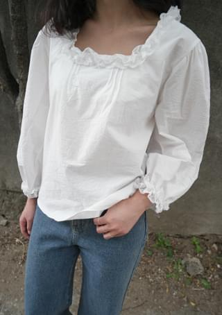 lovable lace cotton blouse