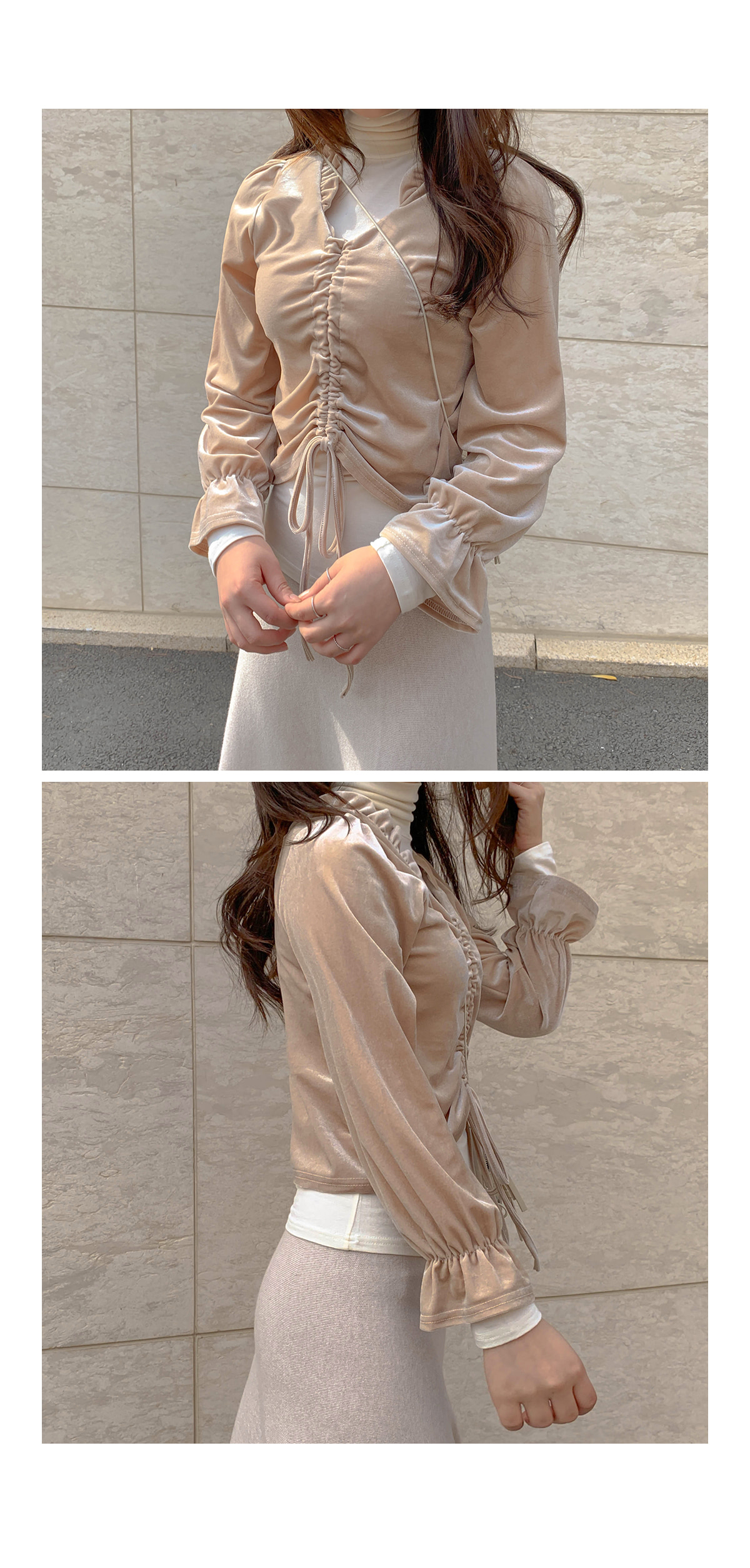 Frill Hay Beloblouse