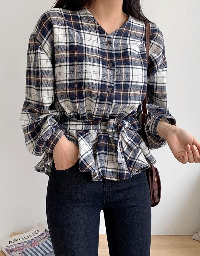 韓國空運 - Pork ribbon blouse 襯衫