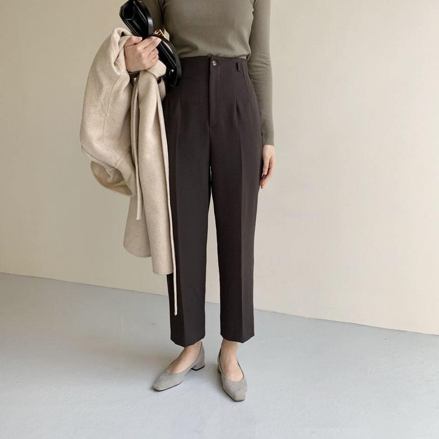 Cover high waist slacks