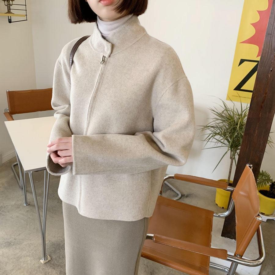 Zipper Short Hand Coat