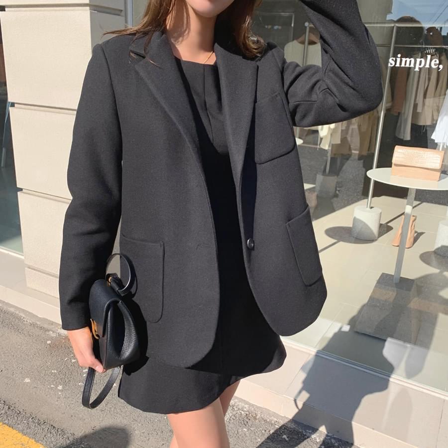 Wool pocket jacket
