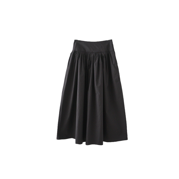 waist shirring full skirt