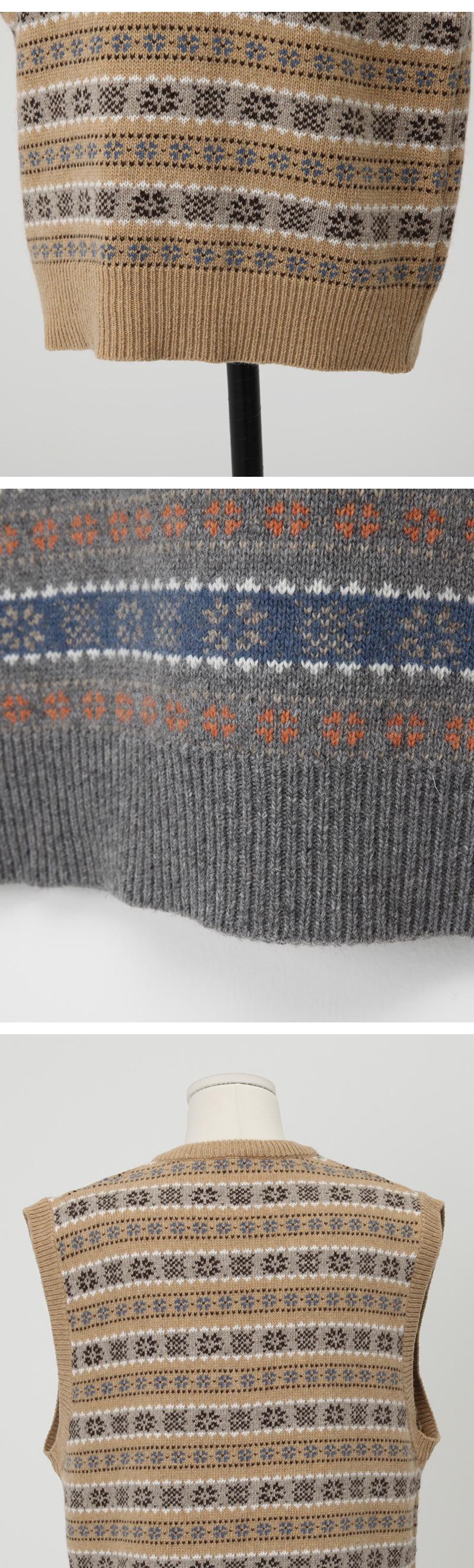 Barris wool v-neck vest_J (size : free)