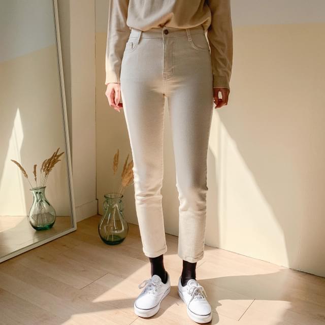 BaanHigh West Slim Span Cotton Pants-pt