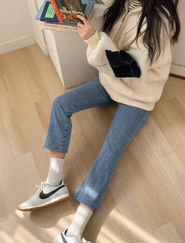 Daily 9-length denim pants