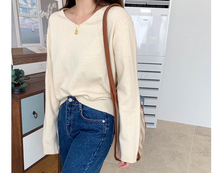 Soap v-neck wool knit_C (size : free) 針織衫