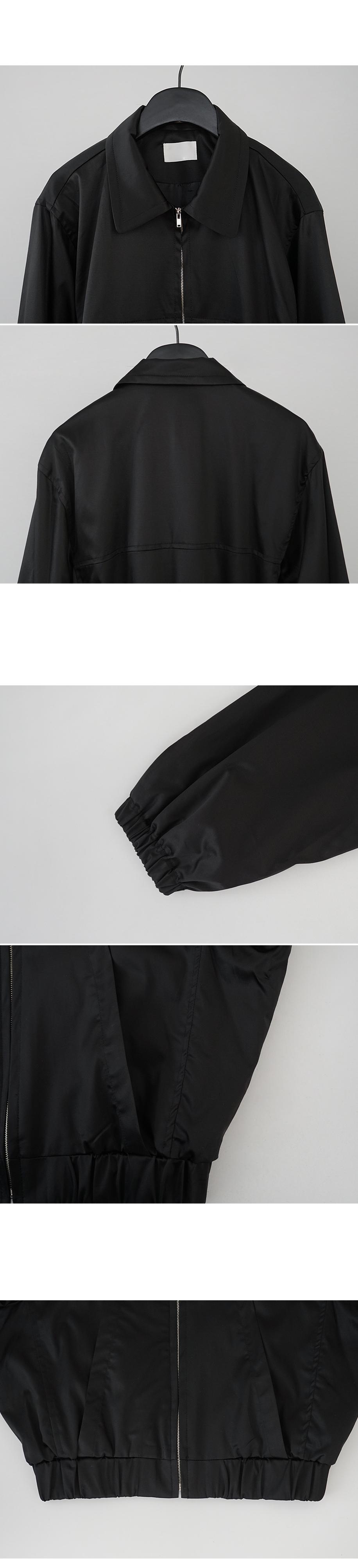 flat satin blouson jumper
