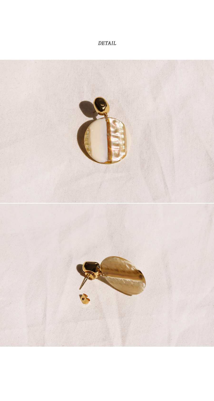 NOVER GOLD MARBLE DROP EARRING