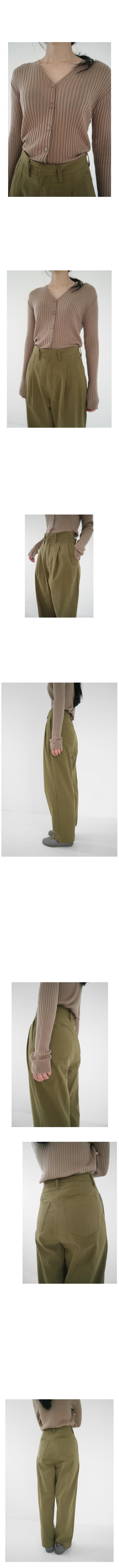 pintuck color cotton pants