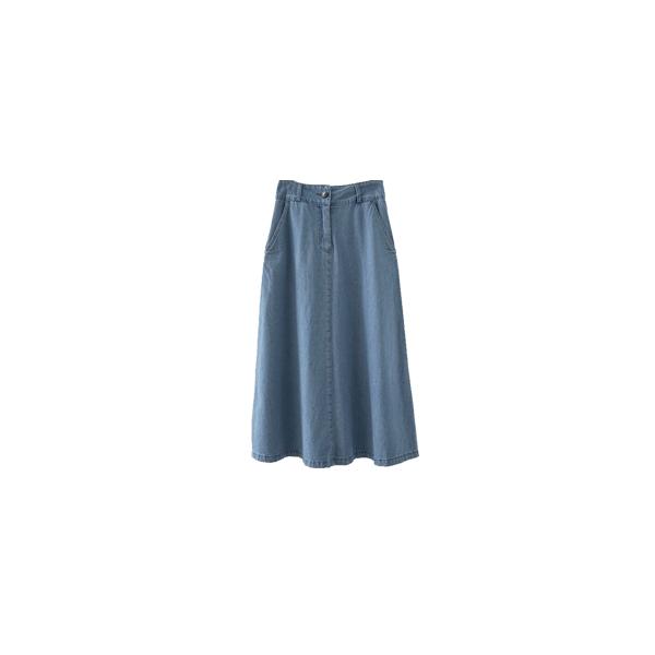 light washing denim skirt