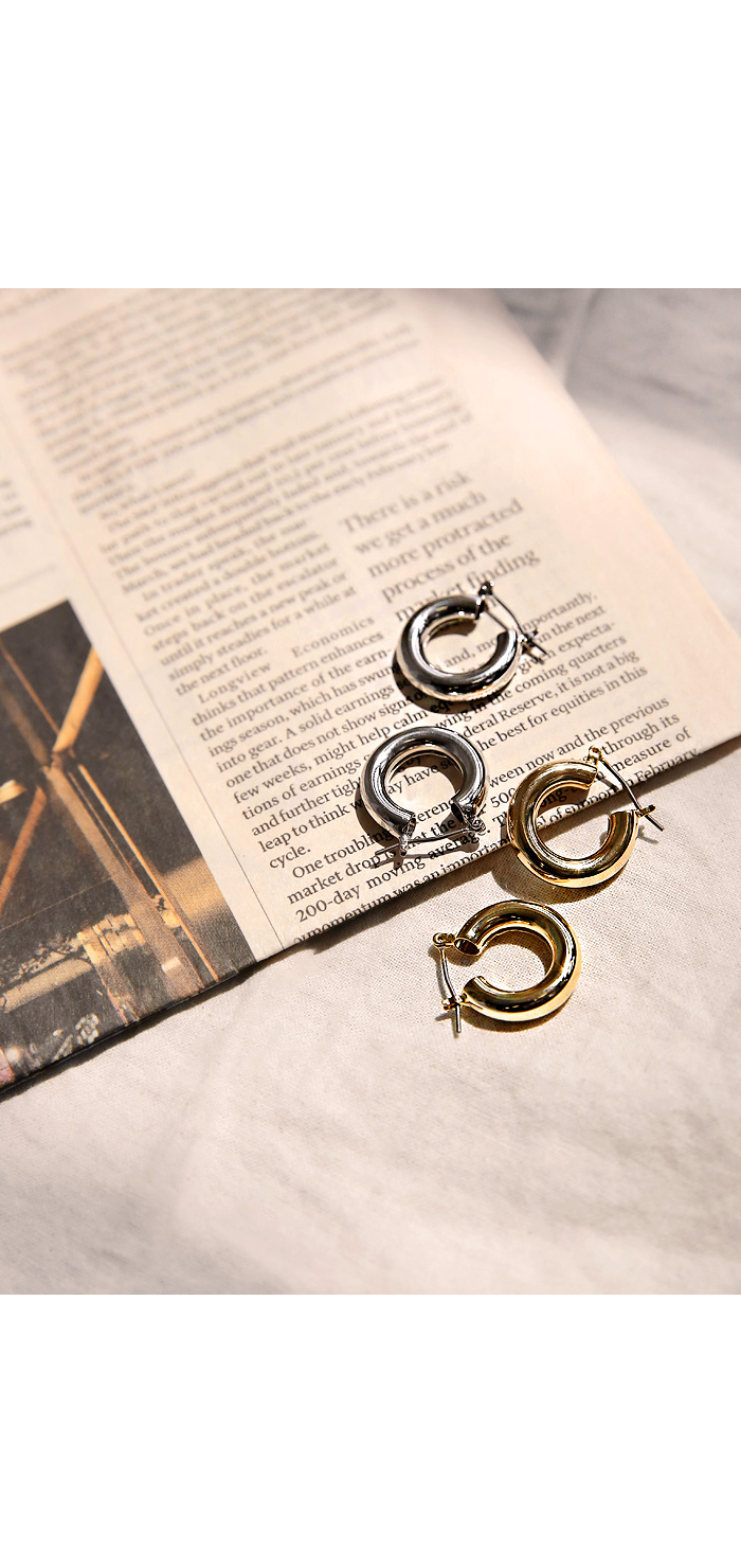 BOST SIMPLE BOLD RING EARRING