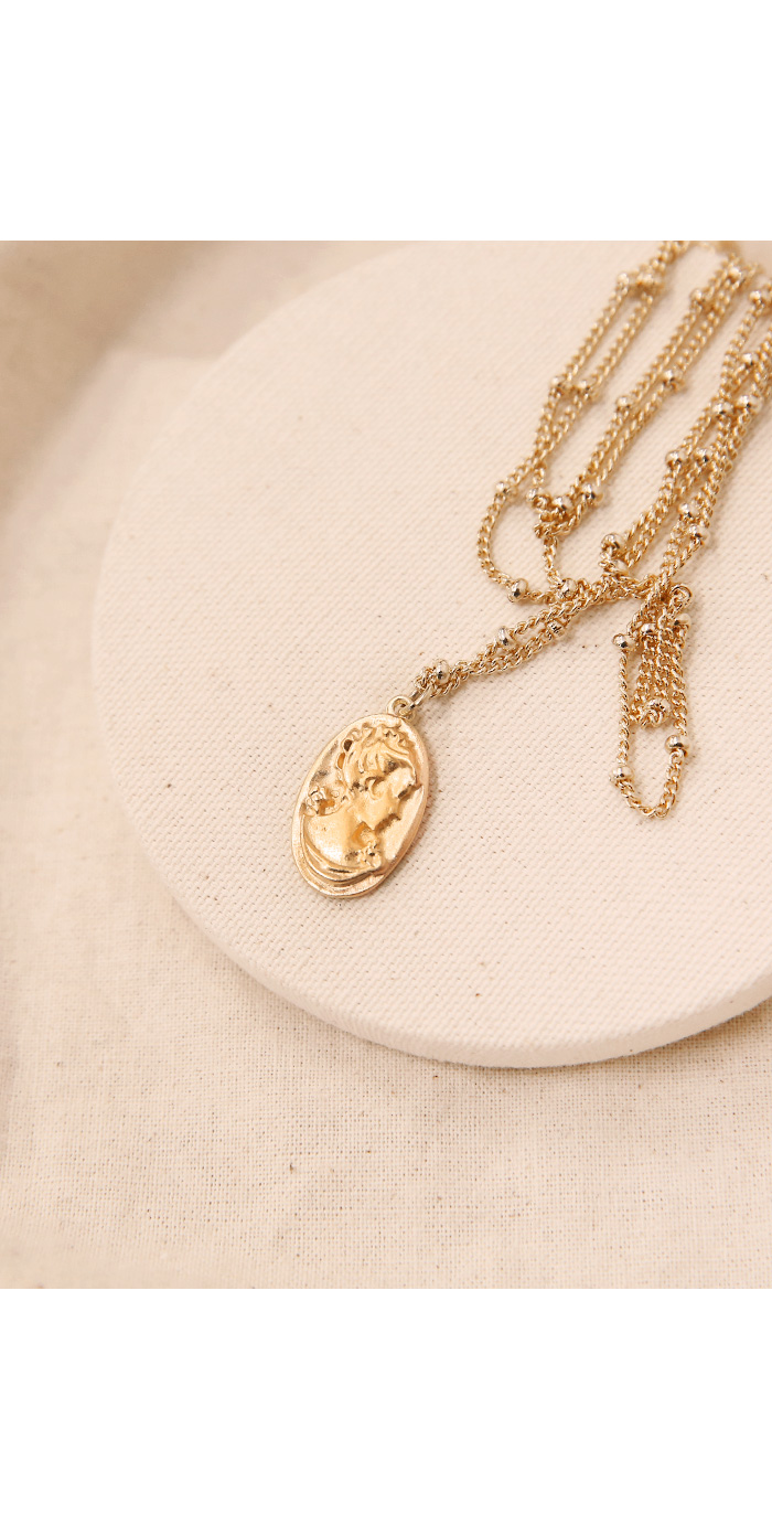 ANTIQUE GOLD LAYERED NECKLACE