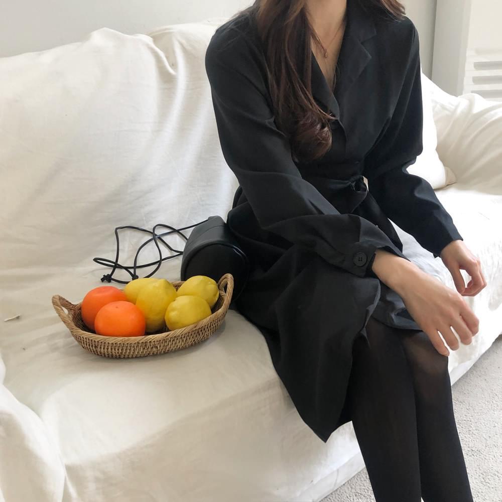 Black Strap Long Dress