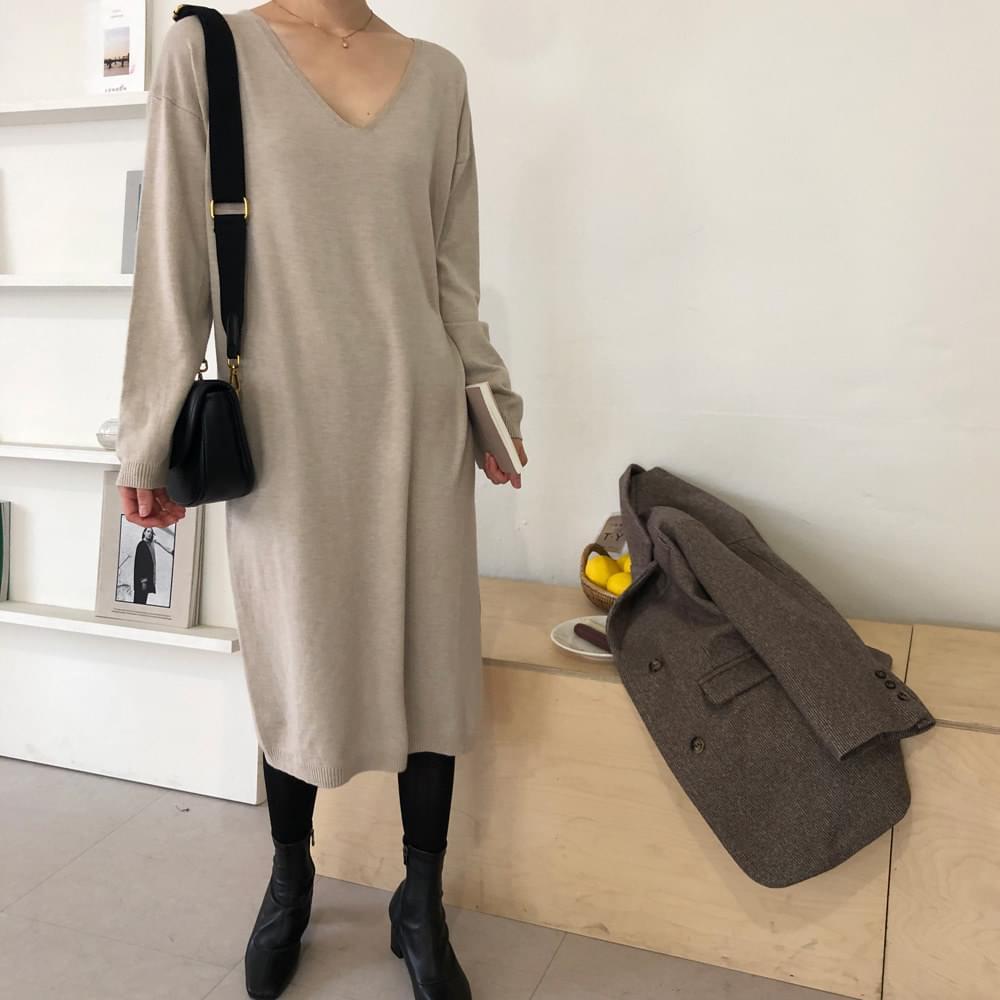 Natural knit dress