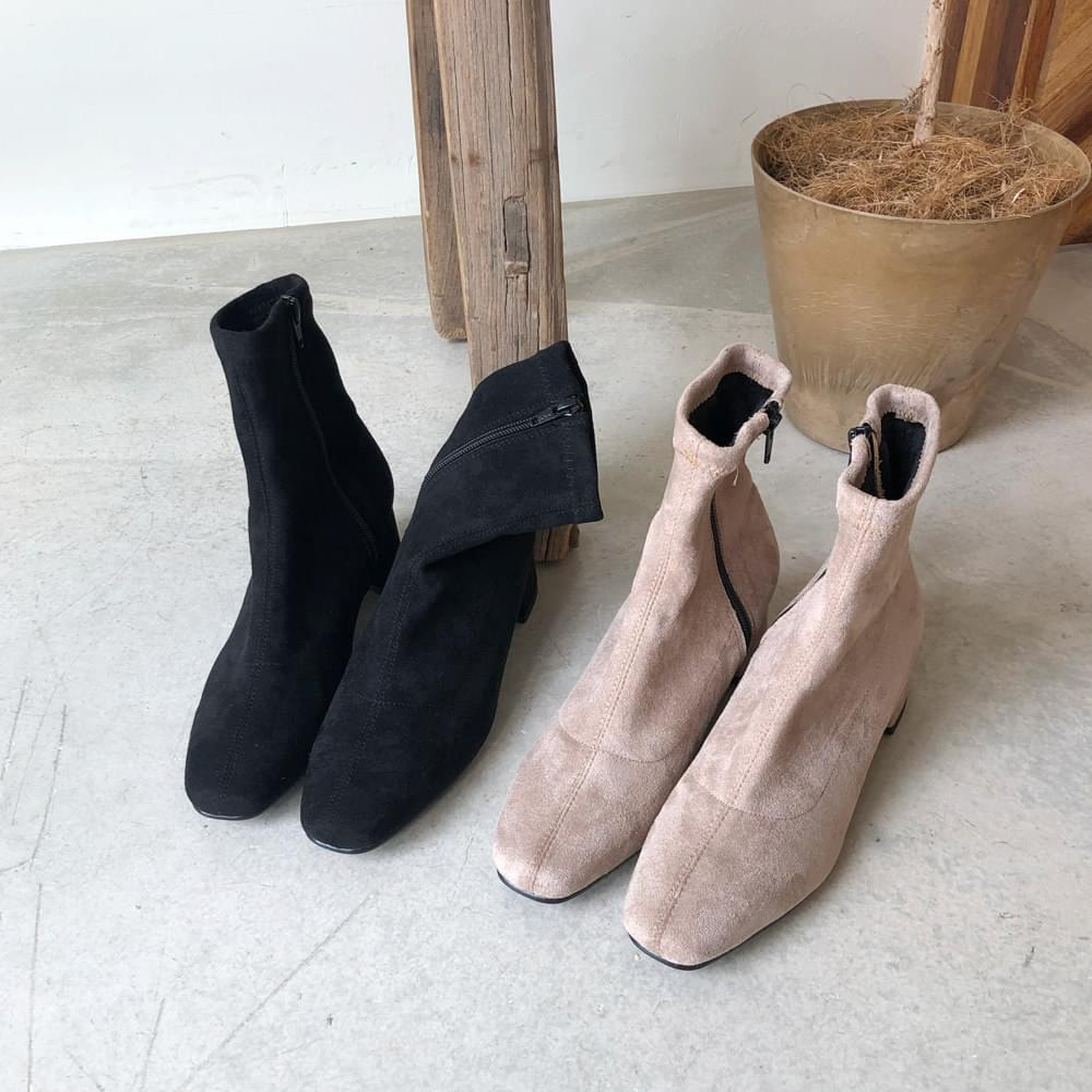 High suede ankle boots