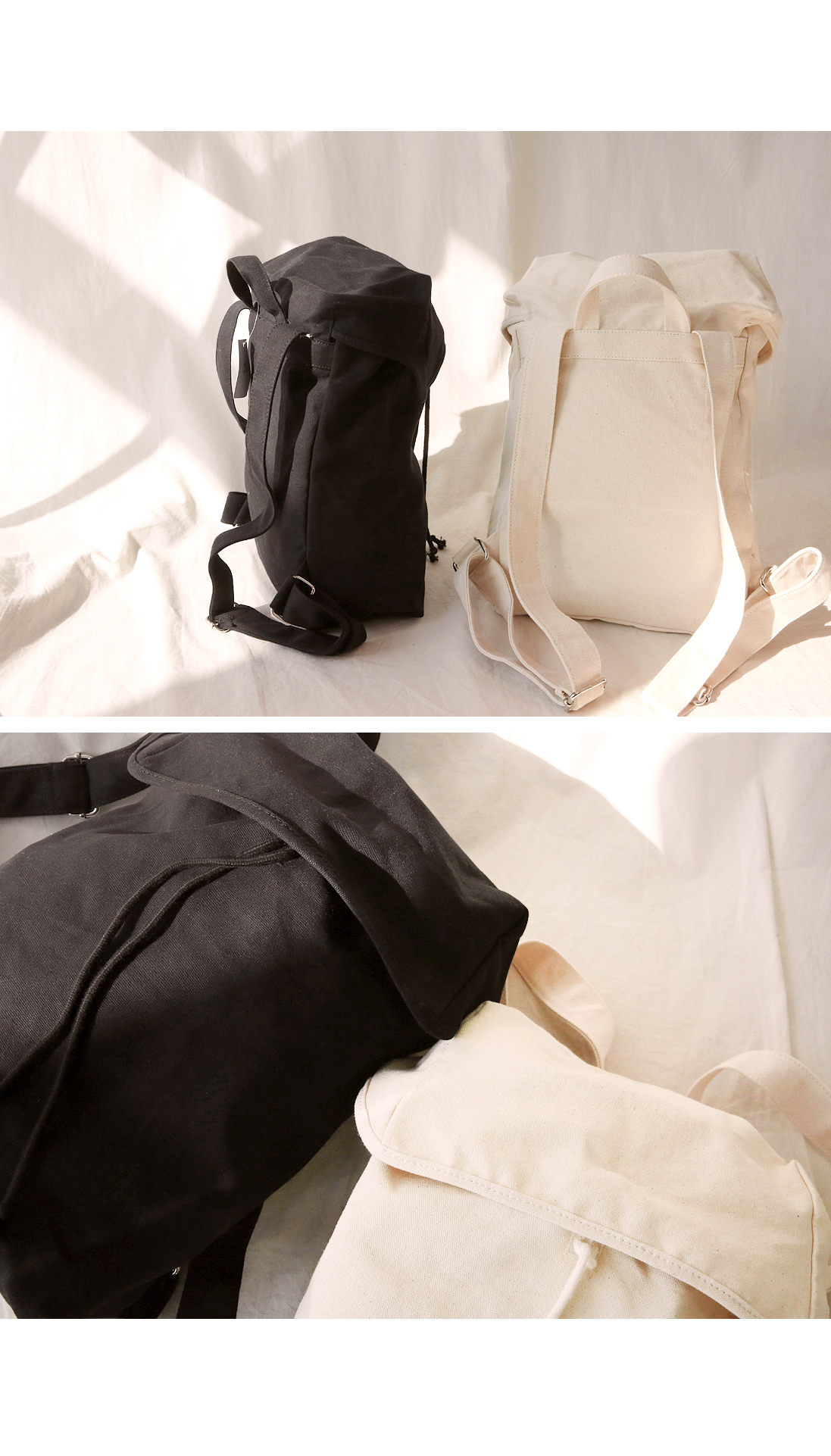 NATURAL CANVAS BACKPACK