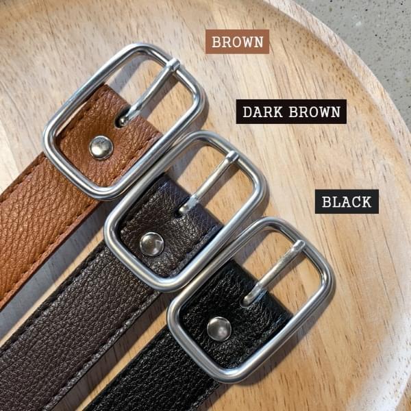 Lucid leather belt
