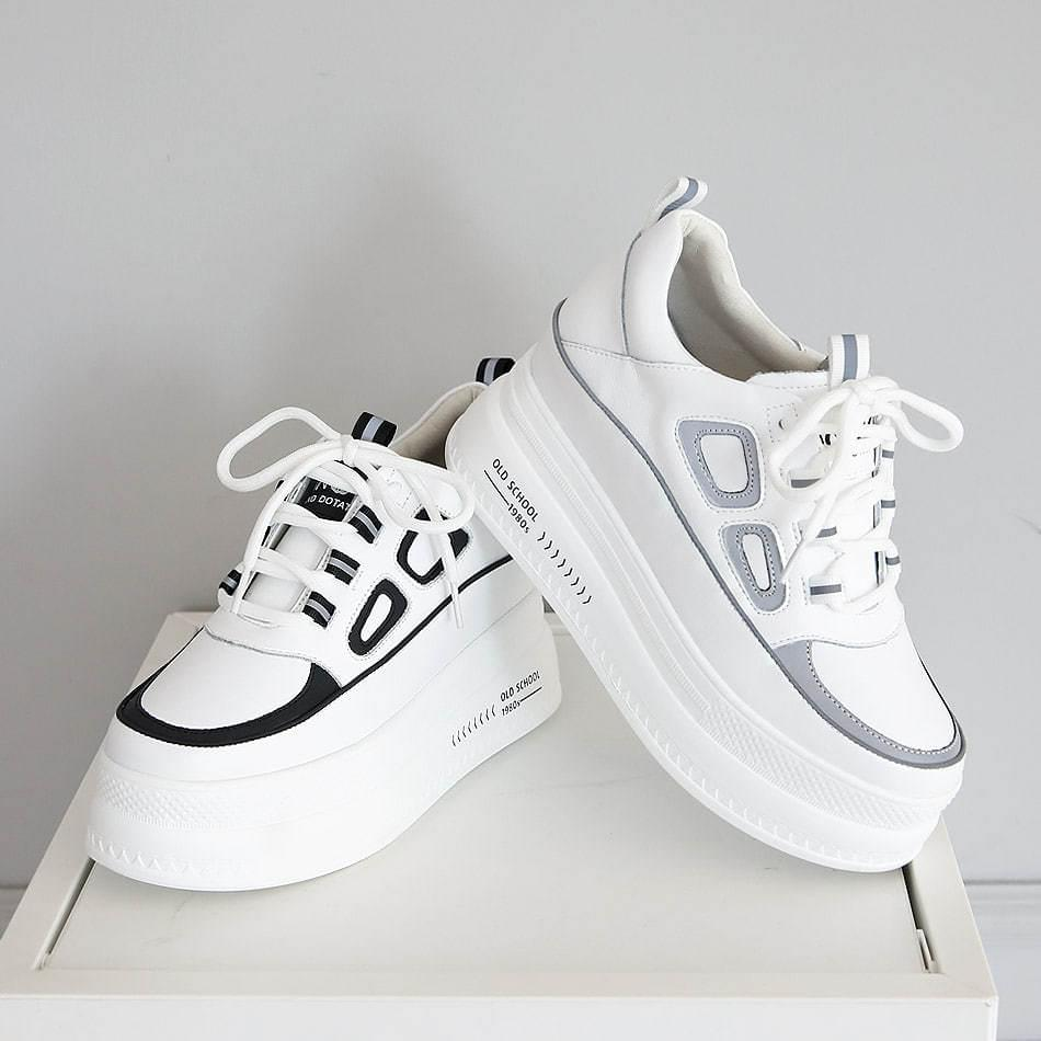 Fvens Tall Leather Sneaker 8cm