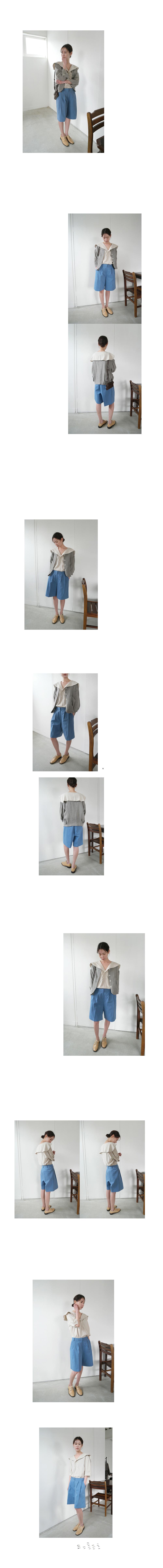 pintuck wide half pants