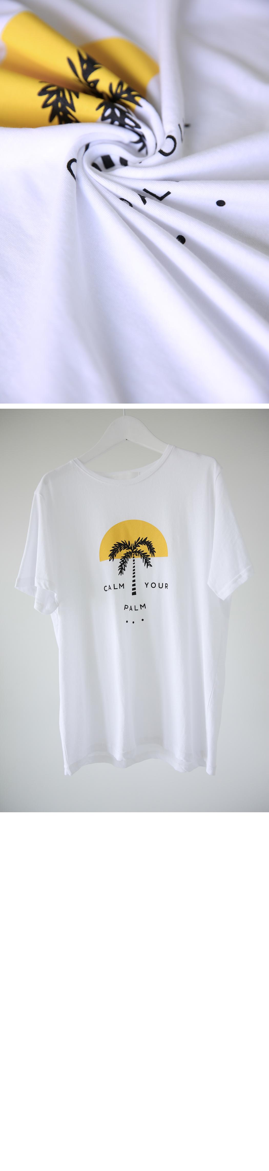 'Palm' printing tee