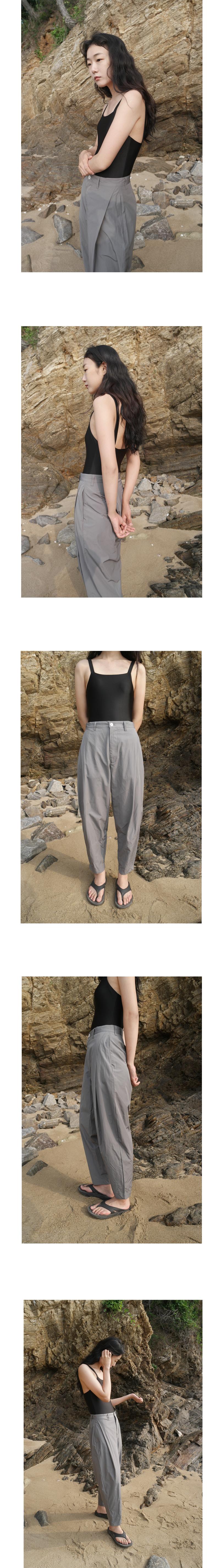 crispy texture unisex pants