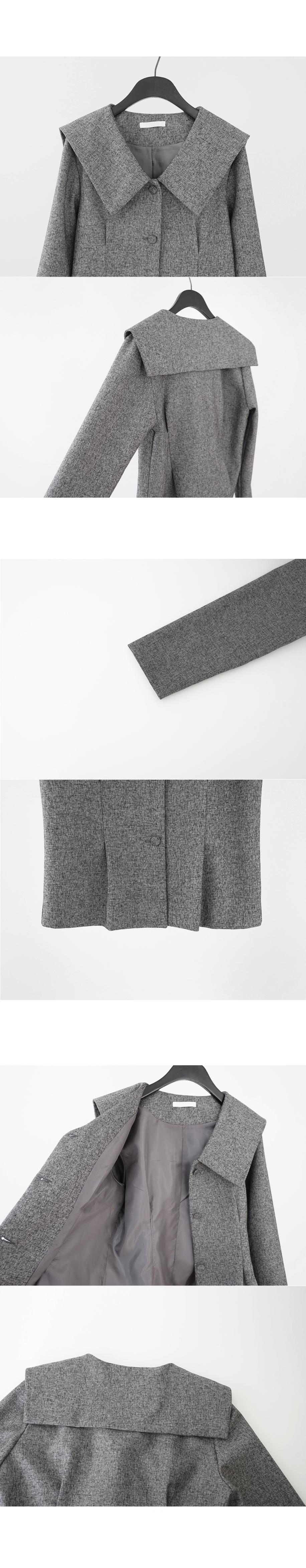 vintage big collar jacket (2colors)