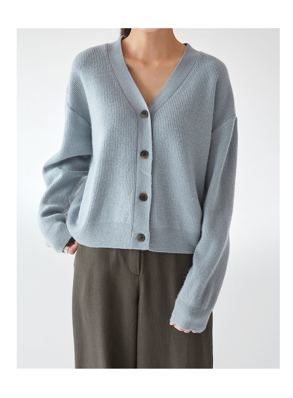 footy v-neck wool cardigan