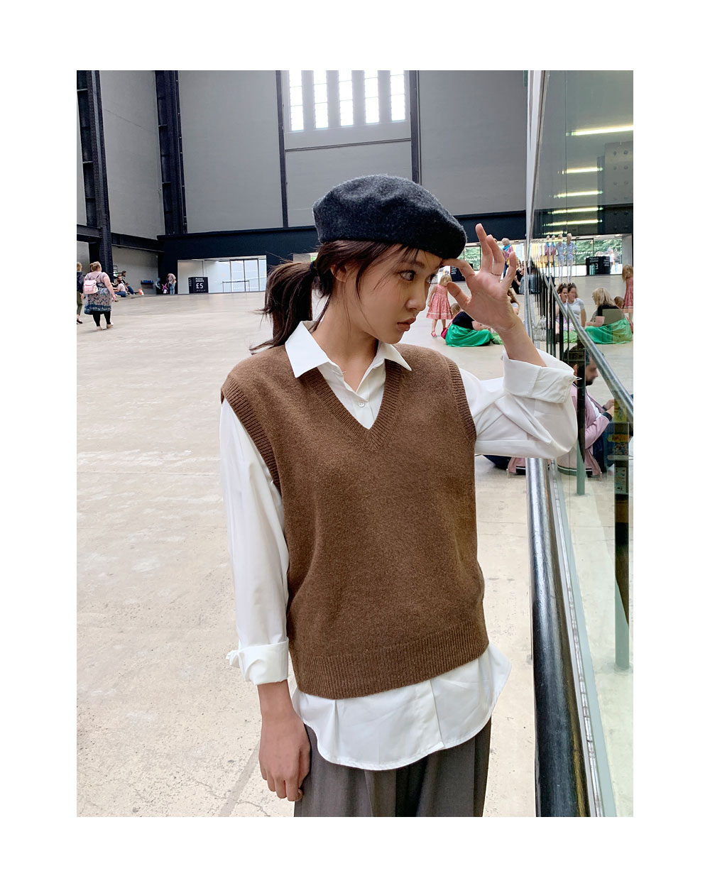 mood wool vest knit