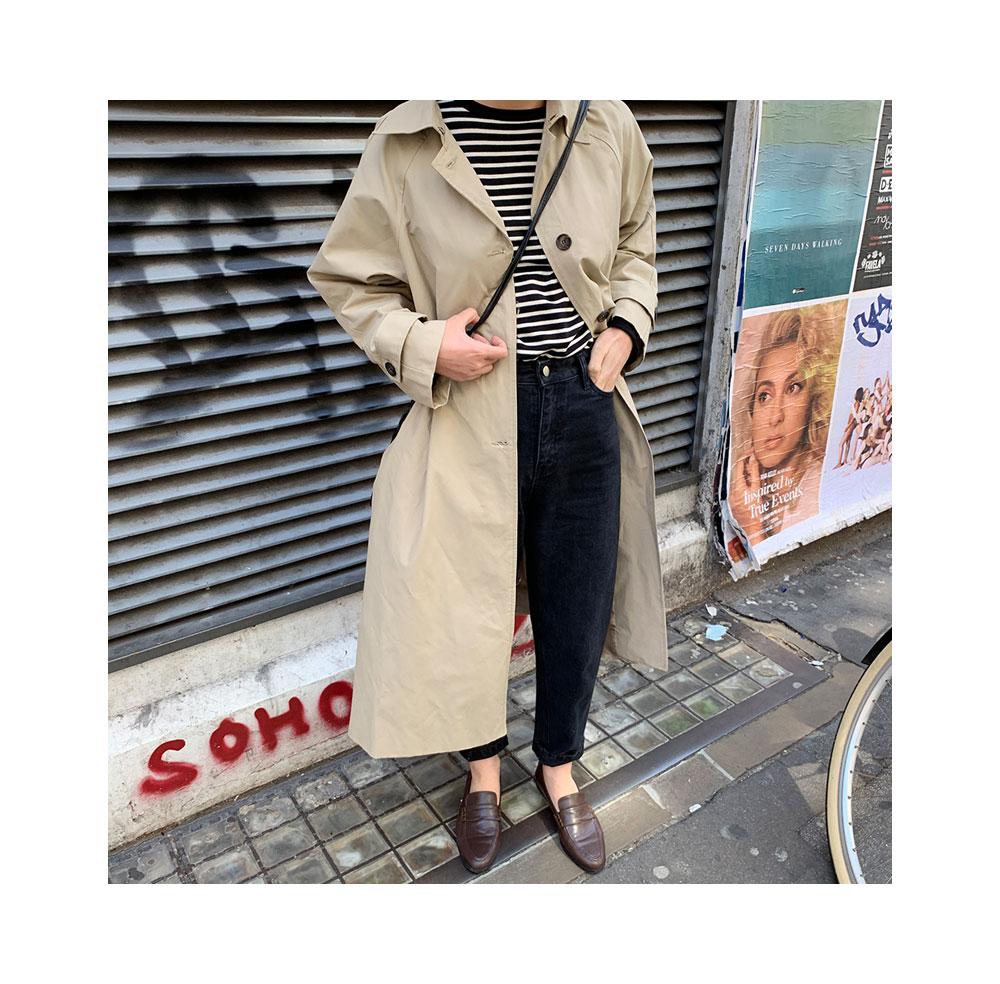 basic collar trench coat