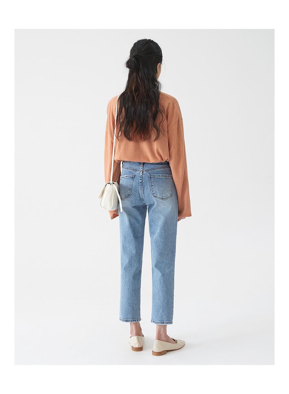 mone light denim pants