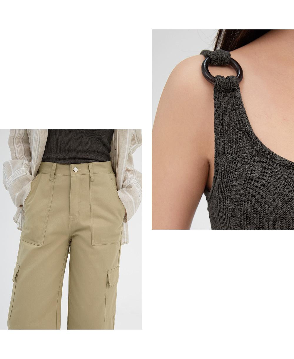 in cargo wide pants (s, m)