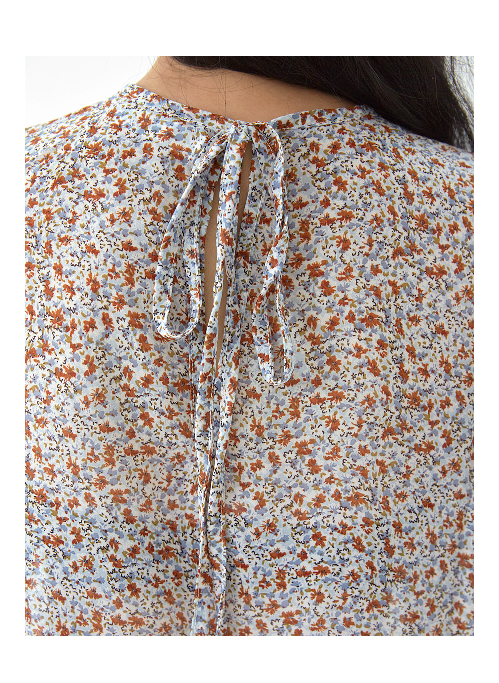 flower chiffon ribbon blouse