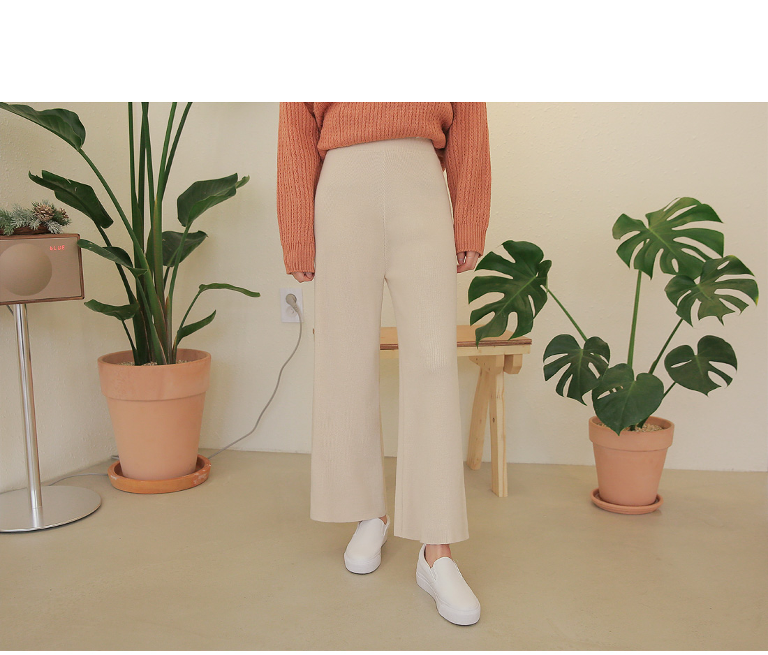 SCENTED WIDE KNIT PANTS