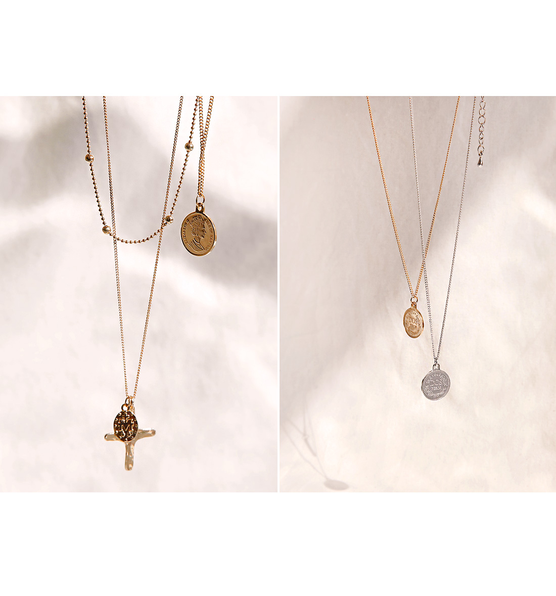 WEET COIN LAYERED NECKLACE