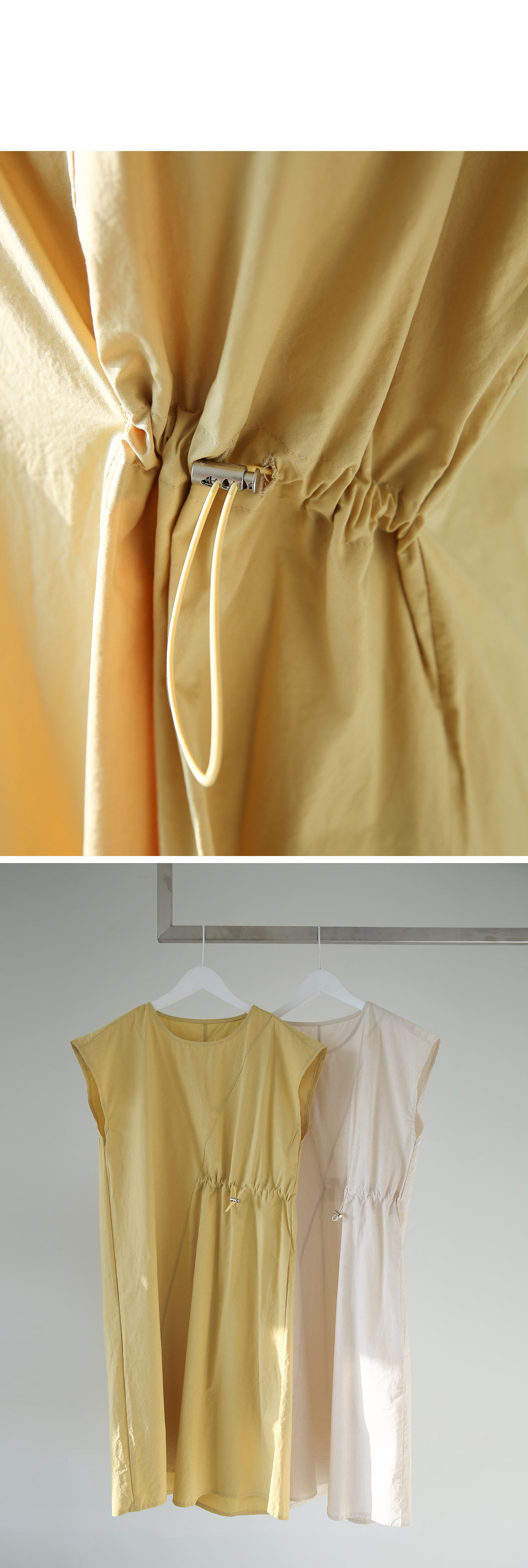 Basarashi Strap Cap Sleeve Dress