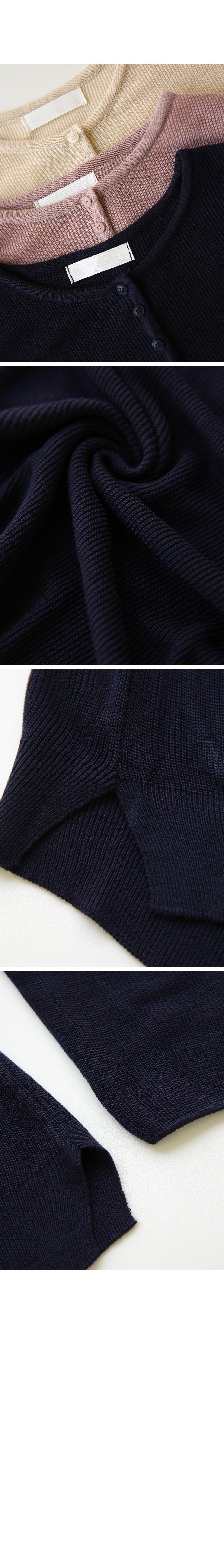 Henry neck hat button knit