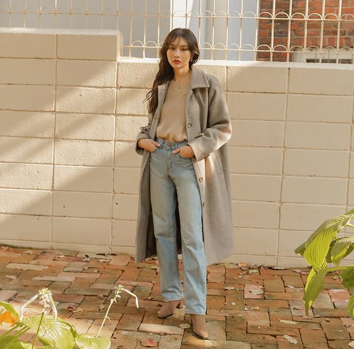 PEGGY WOOL 50% LONG MAC COAT コート