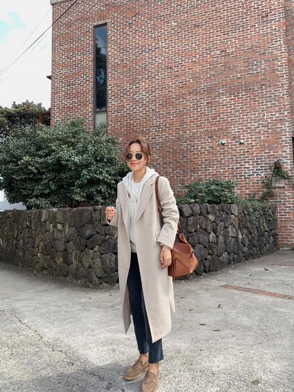 MMMM / haute beige double long coat