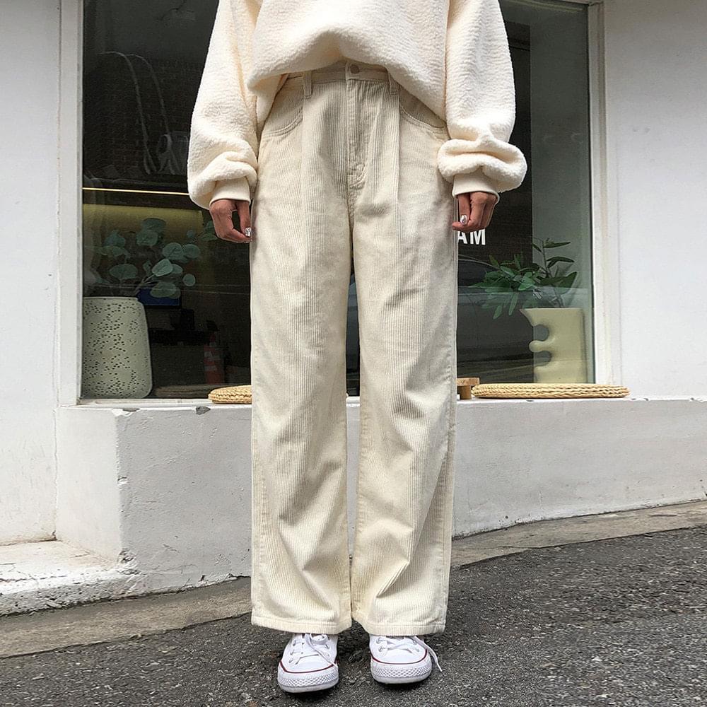 Pintuck corduroy pants 長褲