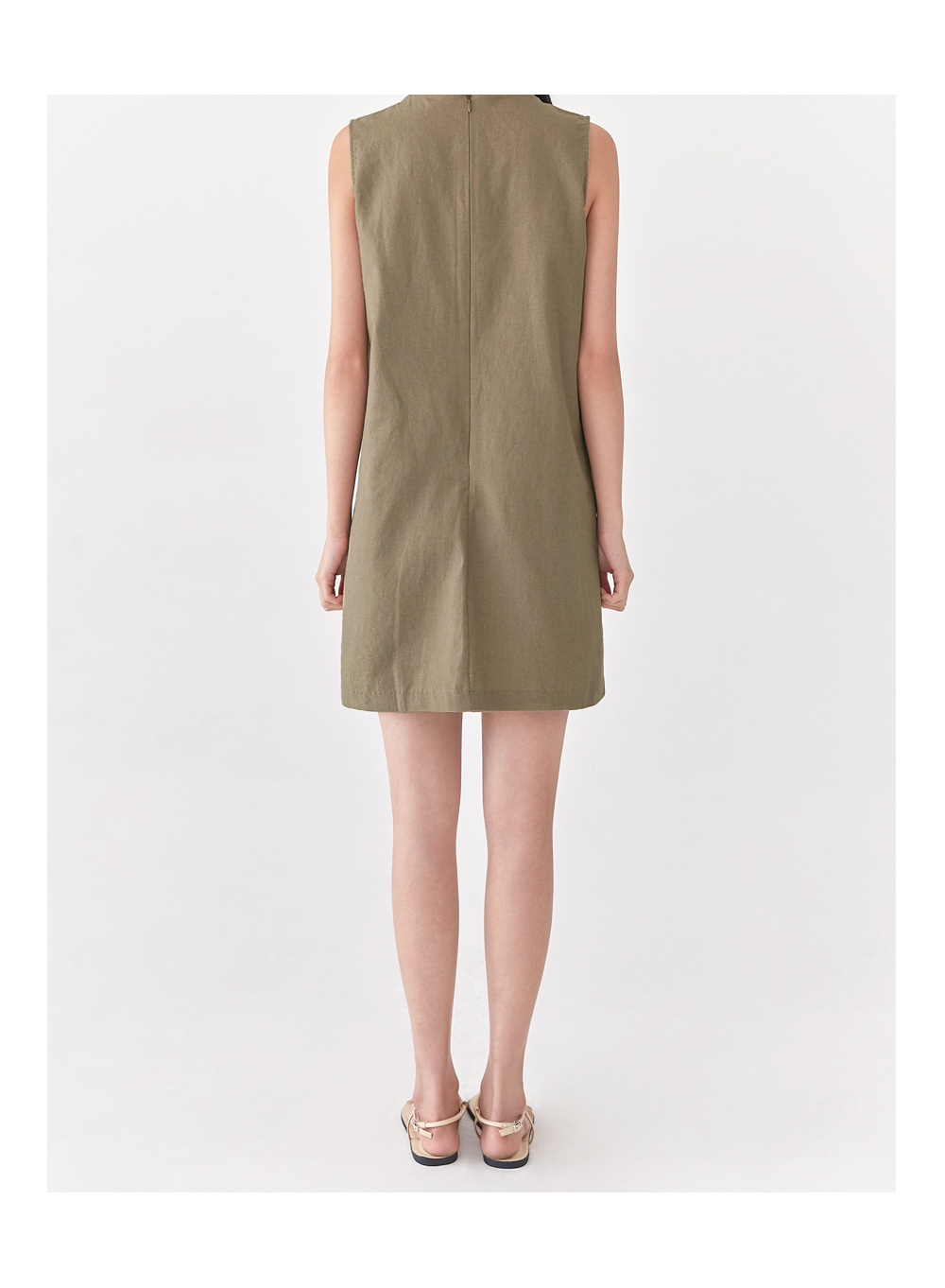 basic linen sleeveless ops