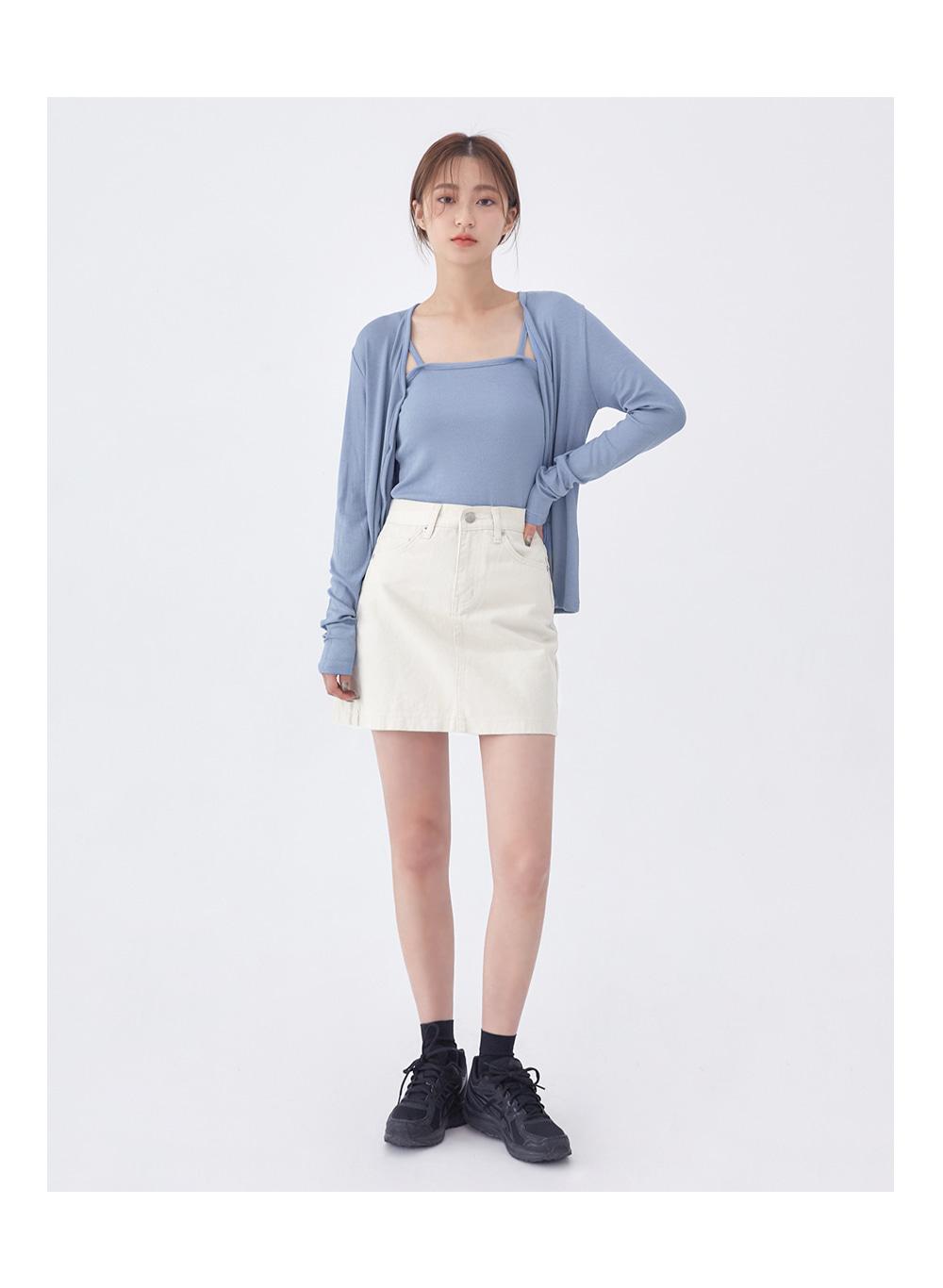 cotton little mini skirt
