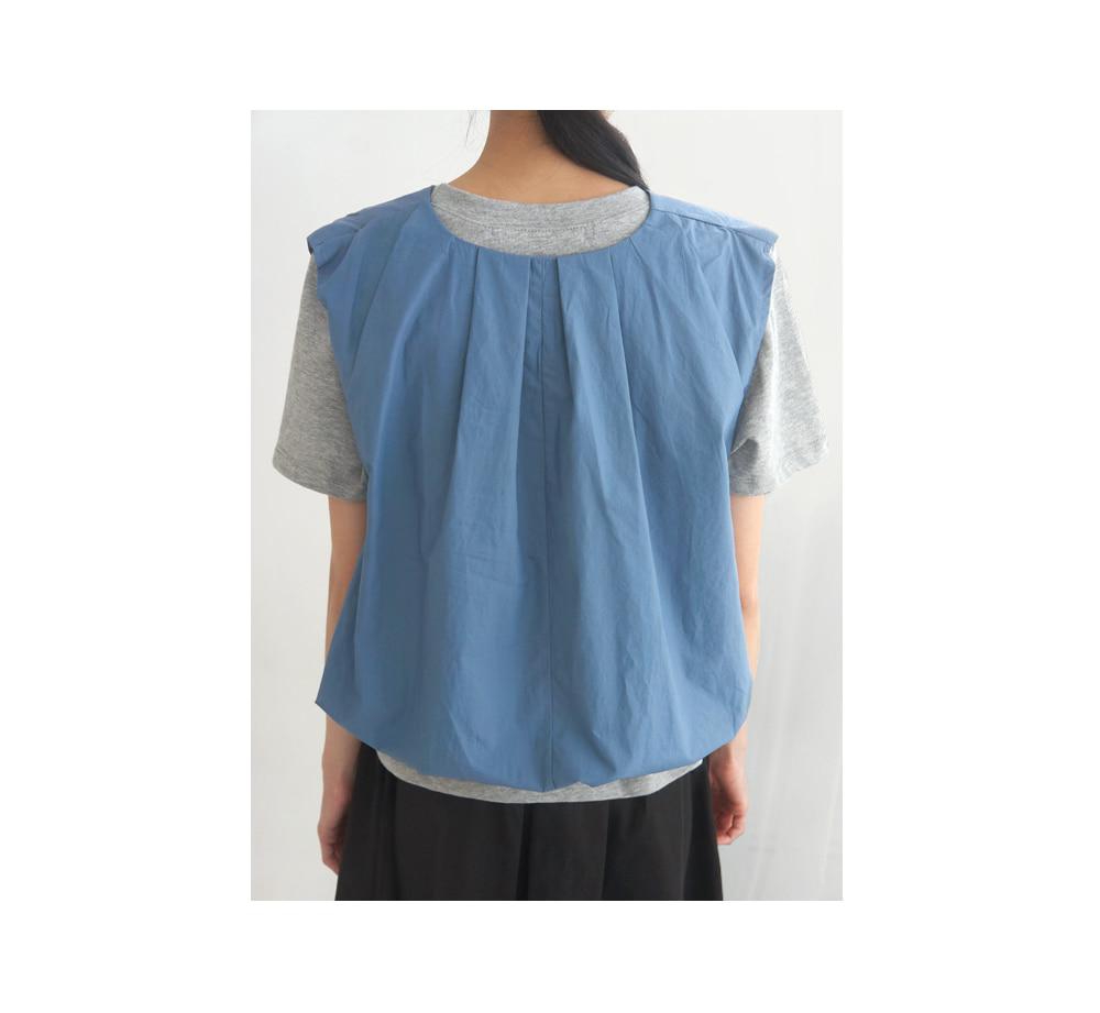 fall still vest blouse