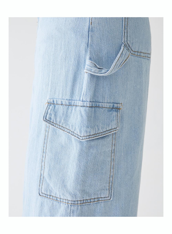 pocket denim long skirt (s, m)