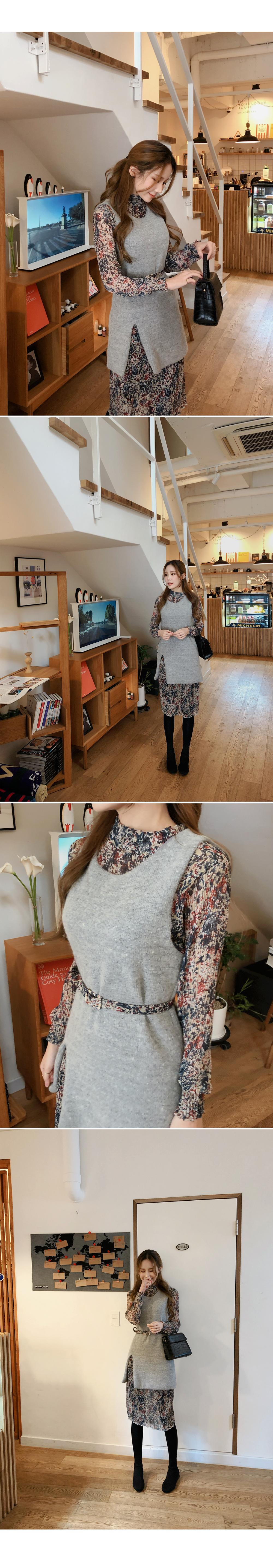 Elegant check mini skirt