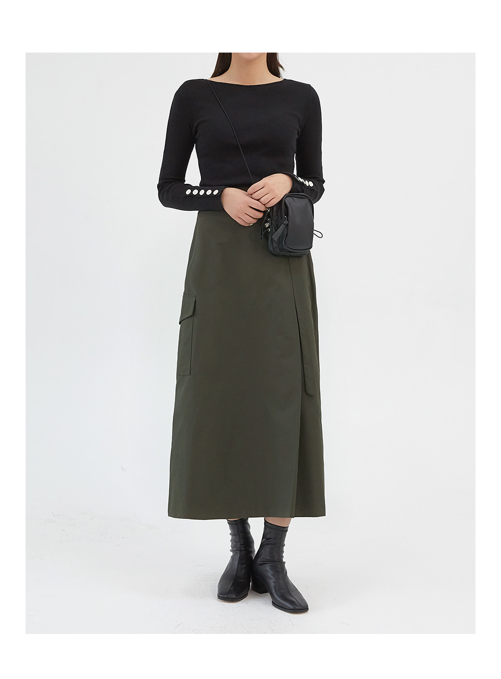 elf pocket long skirts