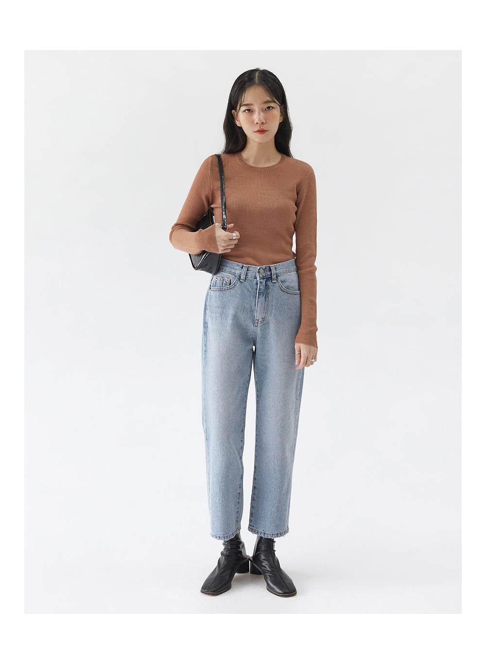 mood bean denim pants