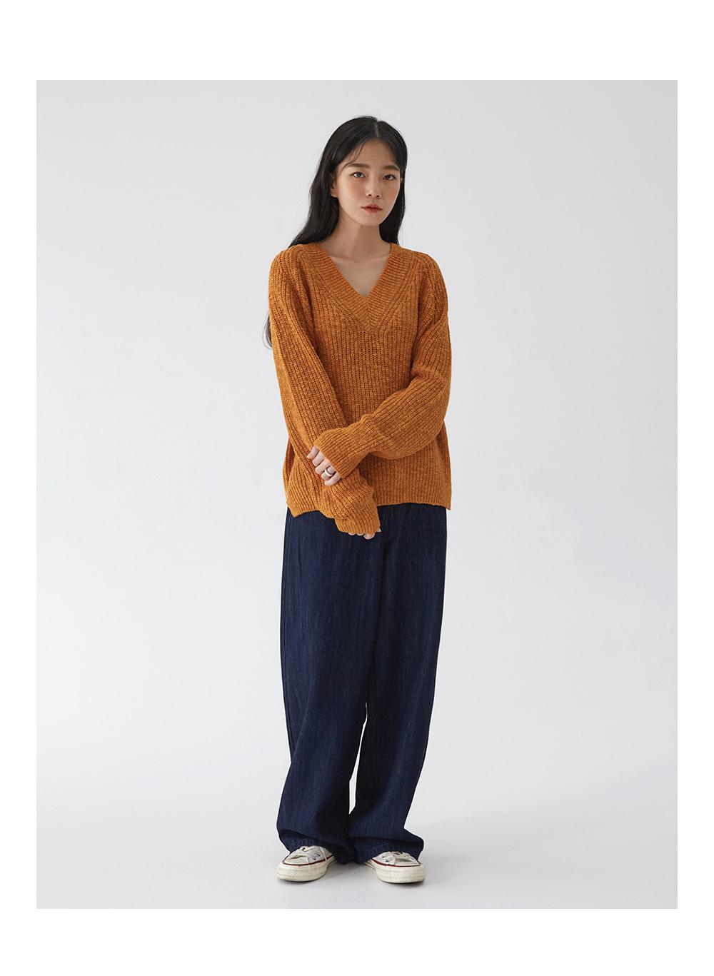 wide deep denim pants