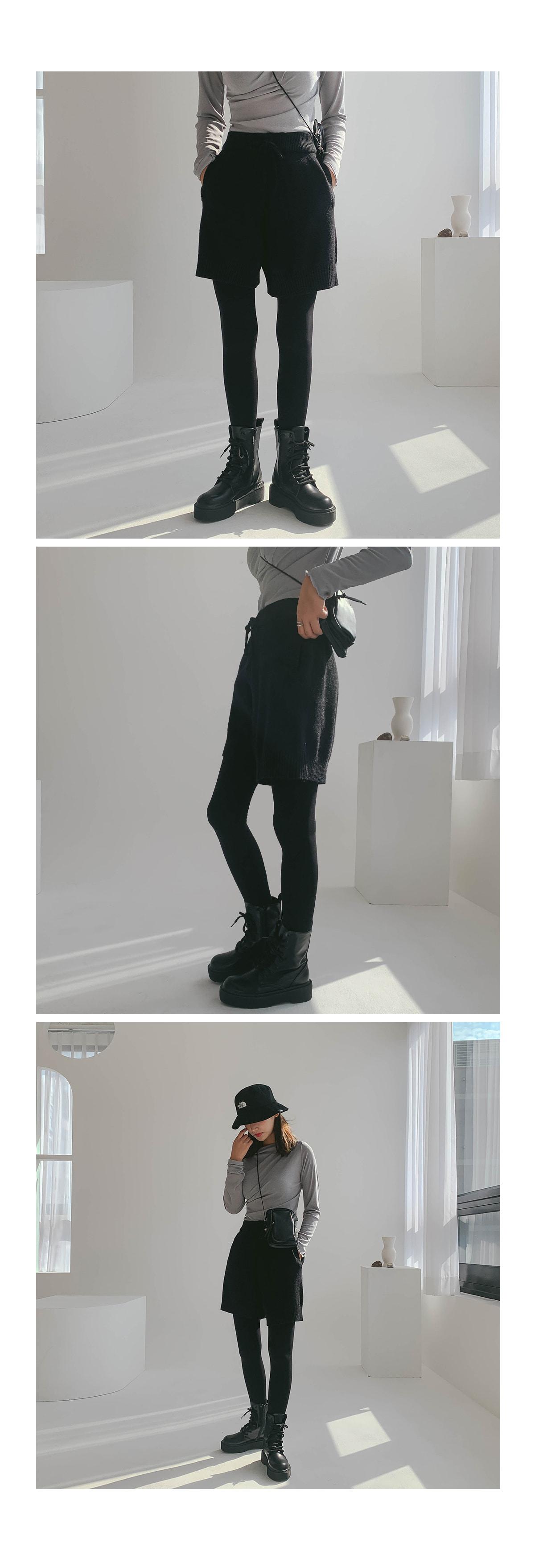 Amber knit half pants
